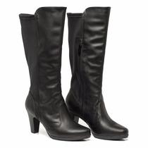 Bota Caña Alta Piccadilly Fashion Comfort Suela Flex Liberty