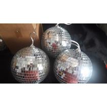En Nuñez. Oferta. 3 Bolas Esferas Espejadas 15 Cm.