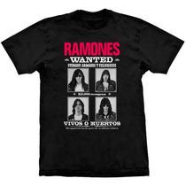 Camiseta Ramones Wanted Poster Stamp