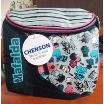 Lonchera Chenson De Mafalda Con Figuras Rosas Y Azules
