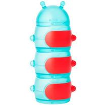 Contenedor De Snacks Gusano-azul-rojo