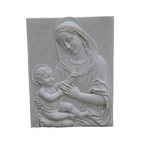 Quadro Maria 1 Em Pó De Mármore - Iml173 - Imagem Sacra