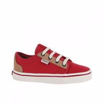 Zapatillas Topper Primo Kids Niños Bordo Y Marron