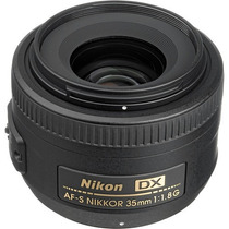 Lente Nikon 35mm F/1.8g Af-s Nikkor Dx Para Reflex Slr
