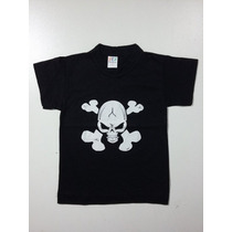 Camiseta Infantil Caveira Rock - Ropapreta