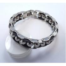 Pulseira Bracelete Masculina Aço Inox Homem Macho Moda Luxo