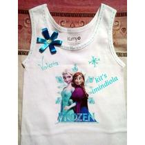 Franelas Decoradas Peppa Pebbles Frozen Sofia Personalizadas