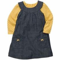 Carters Conjunto Frio Vestido Con Pañalero Ml, 24 Meses Niña