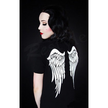 Blusa Camiseta Playera Alas De Angel Wings Gotico Gotham