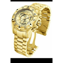 Relógio Invicta Reserve Excursion 6471-gold Original Caixa
