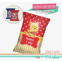 Winnie Pooh Bebé - Envoltorio Alfajor Para Imprimir