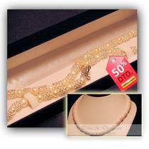 Oferta!! Collar Perlas Cultivadas Cadena Plata - Pocas Unid.
