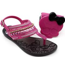 Sandália Infantil Monster High 21208 Preto   Pixolé Calçados