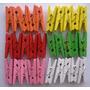 Mini Broches De Madera Colores Varios Pack X 50 Importados