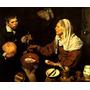 Senhora Fritando Ovos Garoto Pintor Velázquez Na Tela Repro