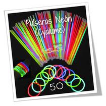 Paquete Pulseras Cyalume, Glow, Neon, Luz, Luminosas, Fiesta