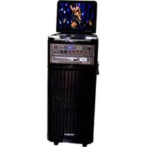 Caixa Som Com Tela Dvd Ecopower Ep1806 250w Bateria Mic Usb