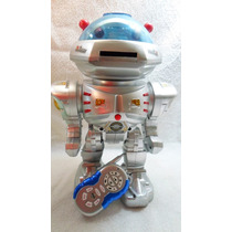 Robo Incrível Fala Anda Dança Lança Discos C/ Controle Remot