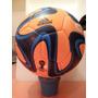 Pelota Adidas Brazuca Matchball Glider Naranja/azul/turquesa