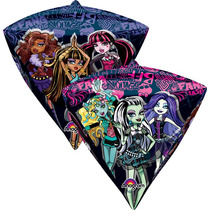 Globo Monster High Paquete 3 Pzas Medida Diamante Para Helio