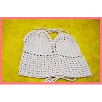 Top Crop Tejido Al Crochet Todos Los Colores - Oportunidad!