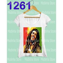 Bob Marley Camiseta Blusa Tshirt Feminina Estampa Reggae