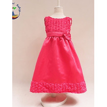 Vestido Para Niña Ceremonia Fiesta, Color Fucsia