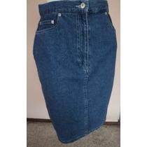 Falda De Mezclilla Tipo Jeans Talla 8 Fch410