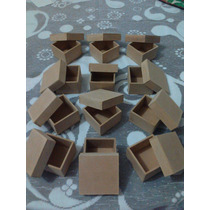 Cajas En Madera Mdf Crudas 6x6x4