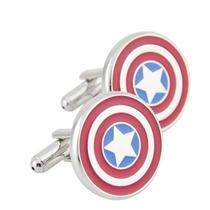 Mancuernillas Capitan America Escudo Marvel Comics Camisa