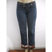 Calça Jeans Feminina Tipo Customizada Tam 38 Ótimo Estado