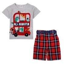 Conjunto Camiseta E Bermuda Infantil 18/24 Meses