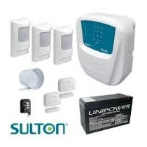 Kit Alarme Residencial Sulton Configurado+curso Instalação