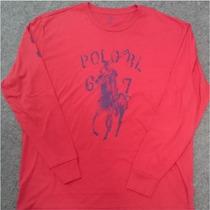 Camiseta Manga Longa Polo Ralph Lauren Original Masculina