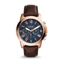 Relógio Masculino Fossil Cronograph Fs5068/3ai 44mm Couro