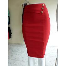 Falda Roja Tipo Lapiz- Importada