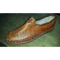Zapato Artesanal Suela De Baqueta, Cocido, Tejido A Mano