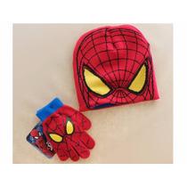 Touca Luvas Homem Aranha Gorro Spider Man Infantil Inverno