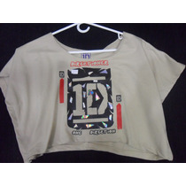 Blusa Camisa Torerito One Direction Artistas Online S M