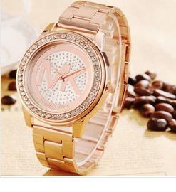 2f90c9fa50414 Relógio Michael Kors Mk Dourado Rose Strass Feminino - R  129