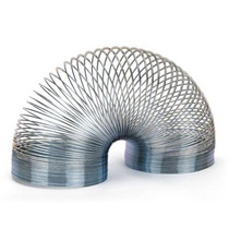 Mini Resorte Slinky D/metal Caminata Mágica Estilo Arco Iris