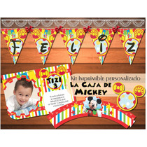 Kit Imprimible Personalizado La Casa De Mickey Disney Candy