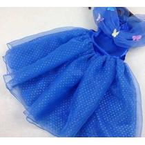 Vestido Festa Fantasia Infantil Princesa Cinderela