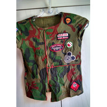 Blusa Camuflada Camiseta Baby Look Vide Bula P