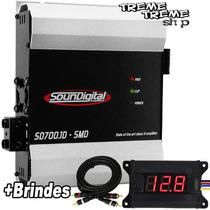Modulo Amplificador Sd Soundigital 700 1d + Brindes + Frete