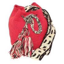 Bolsa Crochet Bag Vermelha Estilo Wayuu Colombiana