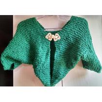 Blusa Boleto Casaco Coletinho Trico Verde Tamanho U