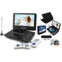 Dvd Portatil 7 Encosto Banco Game Tv Suporte Jogo Completo