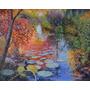 Paisagem Óleo Sobre Tela - Jardim De Monet Ii 80x100 Cm