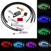 Kit Luces Neon Bajo Piso Led Multicolor Control Remoto 6pcs